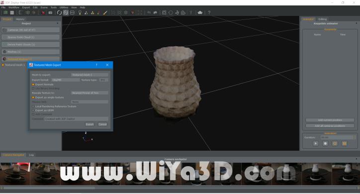 3DF Zypher Export Texture Mesh