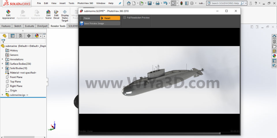 SolidWorks Photoview 360 S009