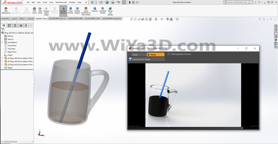 SolidWorks Photoview 360 S033