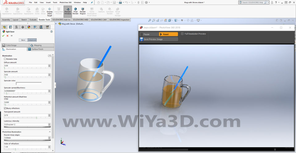SolidWorks Photoview 360 S035
