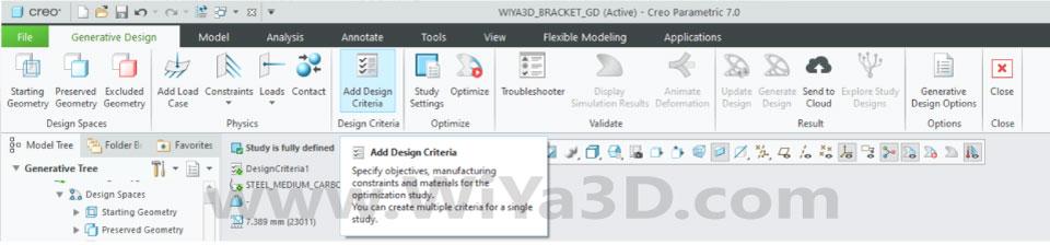 PTC Creo Topology Optimization Generative Design 020