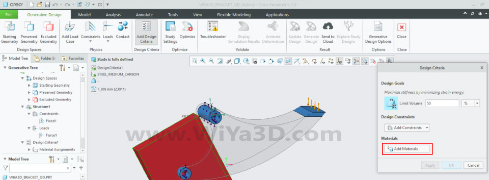 PTC Creo Topology Optimization Generative Design 021