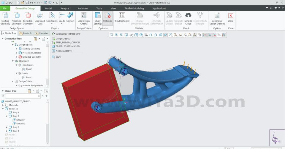 PTC Creo Topology Optimization Generative Design 025