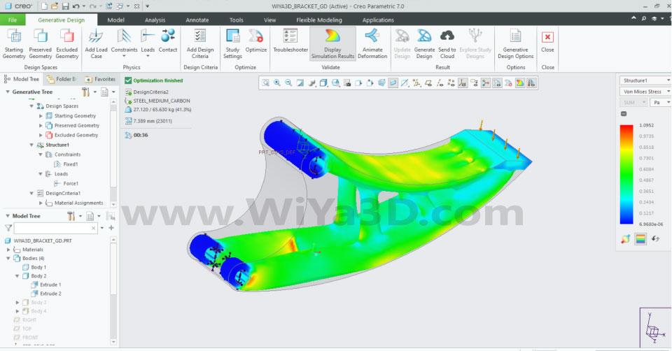 PTC Creo Topology Optimization Generative Design 026