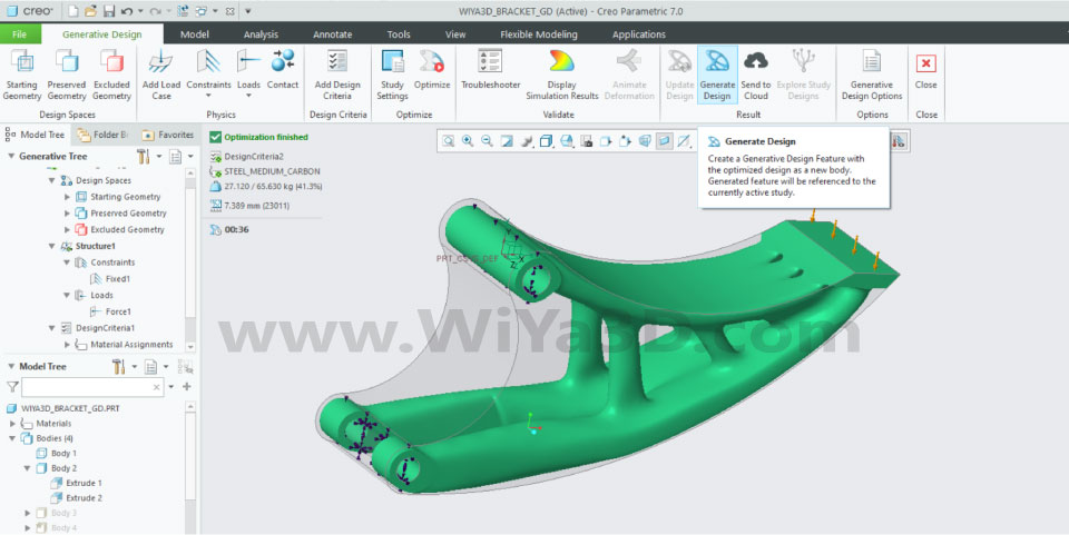 PTC Creo Topology Optimization Generative Design 027