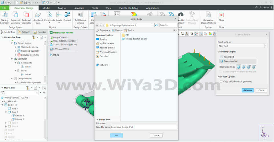 PTC Creo Topology Optimization Generative Design 031