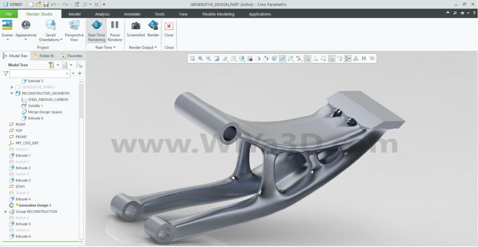 PTC Creo Topology Optimization Generative Design 032
